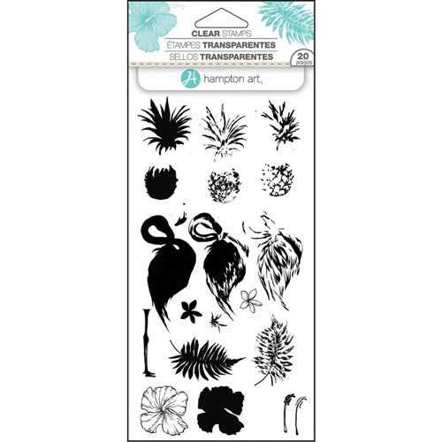 Tropical Layering Hampton Art Rubber Stamp Set [SC0753]