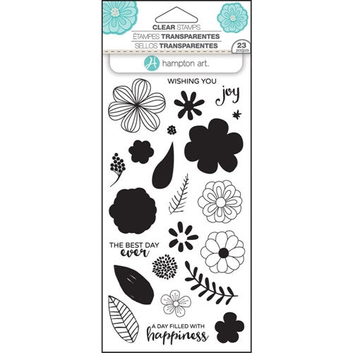 Flower Joy Layering Hampton Art Rubber Stamp Set [SC0749]