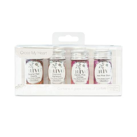Cross My Heart Confetti- Pure Sheen 4 Pack, 285N