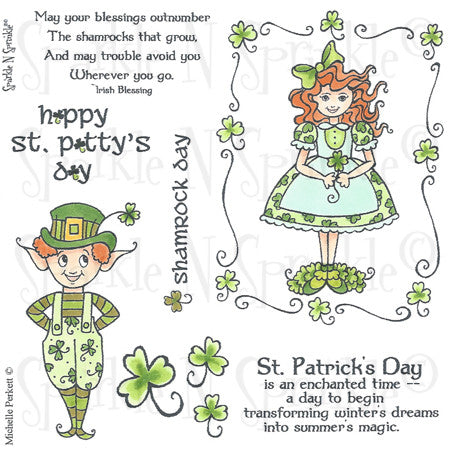 Irish Shamrocks Rubber Stamp Set [00-485P6]