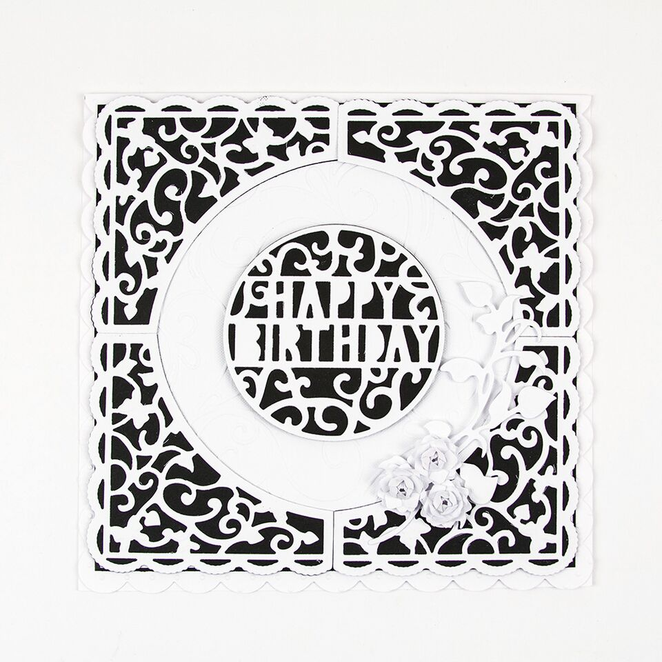 Indulgence Square Sentiments Happy Birthday Die[511e]