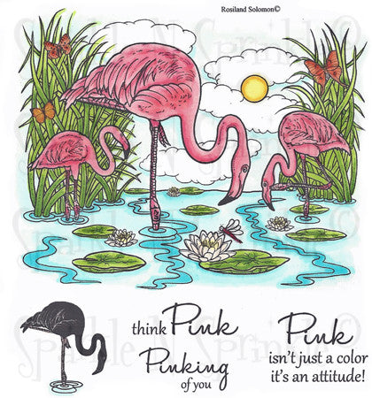 Flamingo Bay - Rubber Stamp Set [00-512P6]