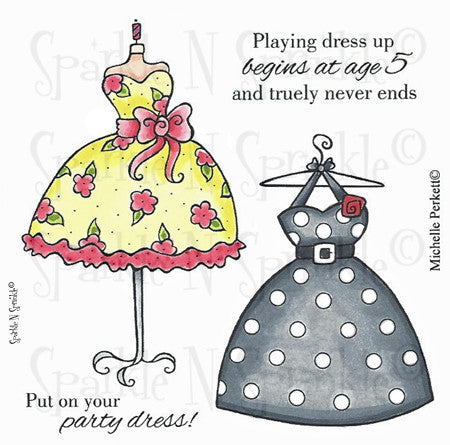 Dress Up Rubber Stamp Set [00-525P7]
