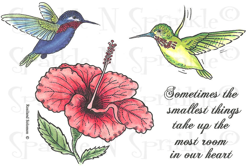 Hummingbird 1 - Rubber Stamp Set [00-540P5]