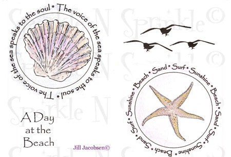 By the Seashore Rubber Stamp Set [00-559P5]