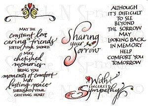 Sympathy Stamp Rubber Stamp Set, 00-579P5