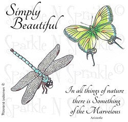 Simply Beautiful SNS Rubber Stamp Set [00-589P7]