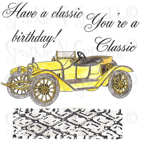 Classic Car Rubber Stamp Set [00-599P7]