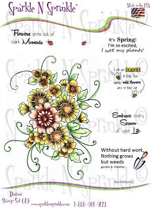 Daisies Rubber Stamp Set [00-619P6]