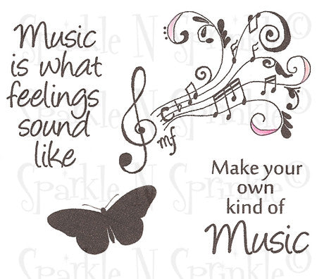Make Your Own Music - Rubber Stamp Set [00-639P7]