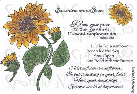 Sunflower Rubber Stamp Set [00-643P5]