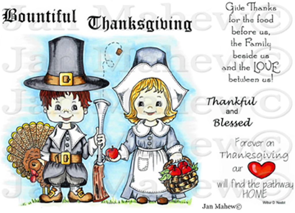 Pilgrim Thanksgiving Rubber Stamp Set [00-646P5]