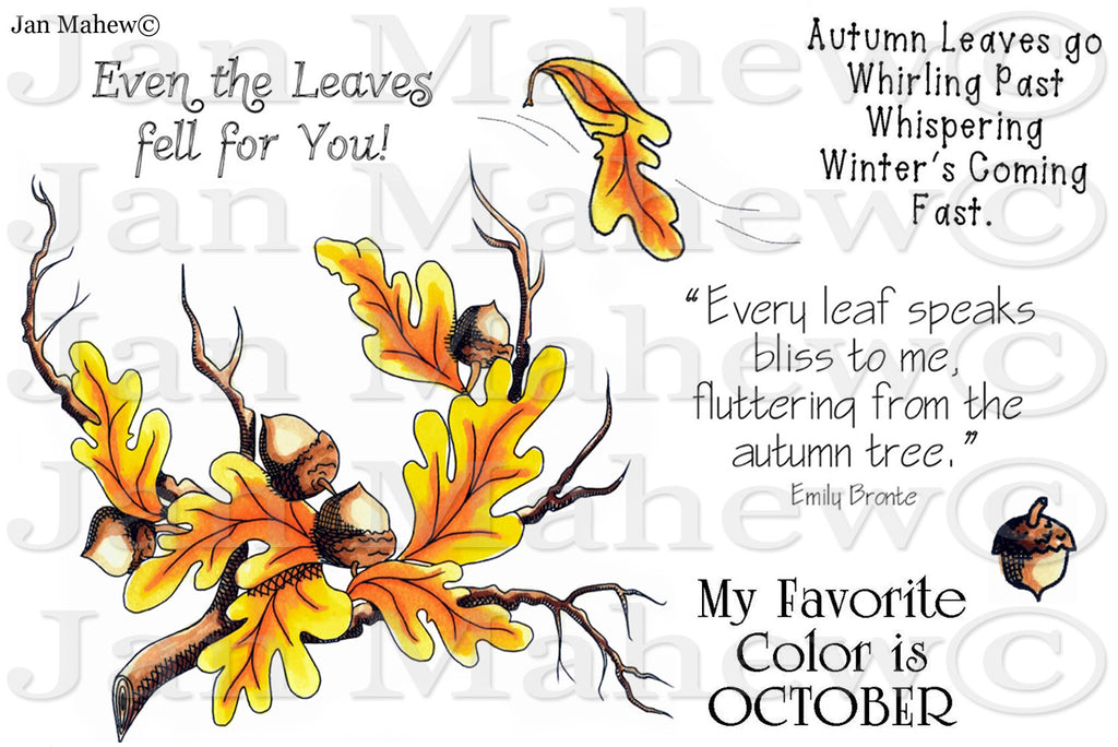 Wisps of Autumn Rubber Stamp Set  [00-647P5]