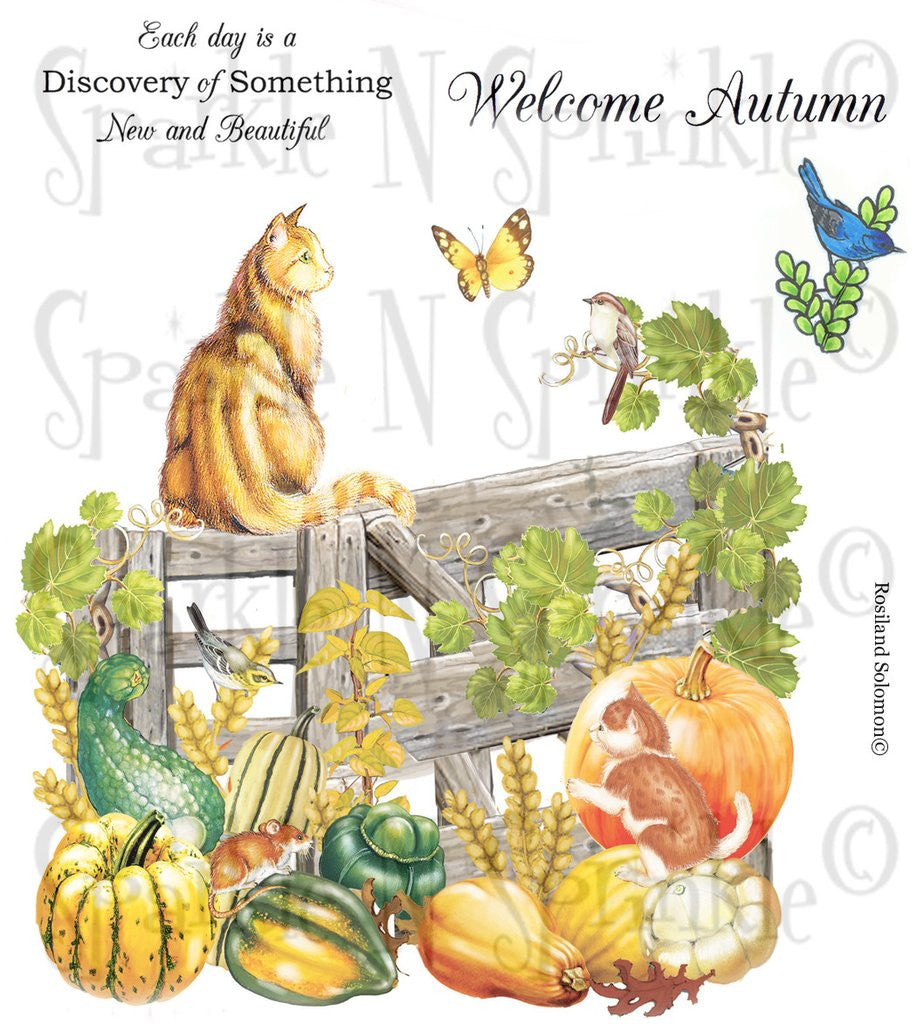 Digi Stamp Set Welcome Autumn Digi650R