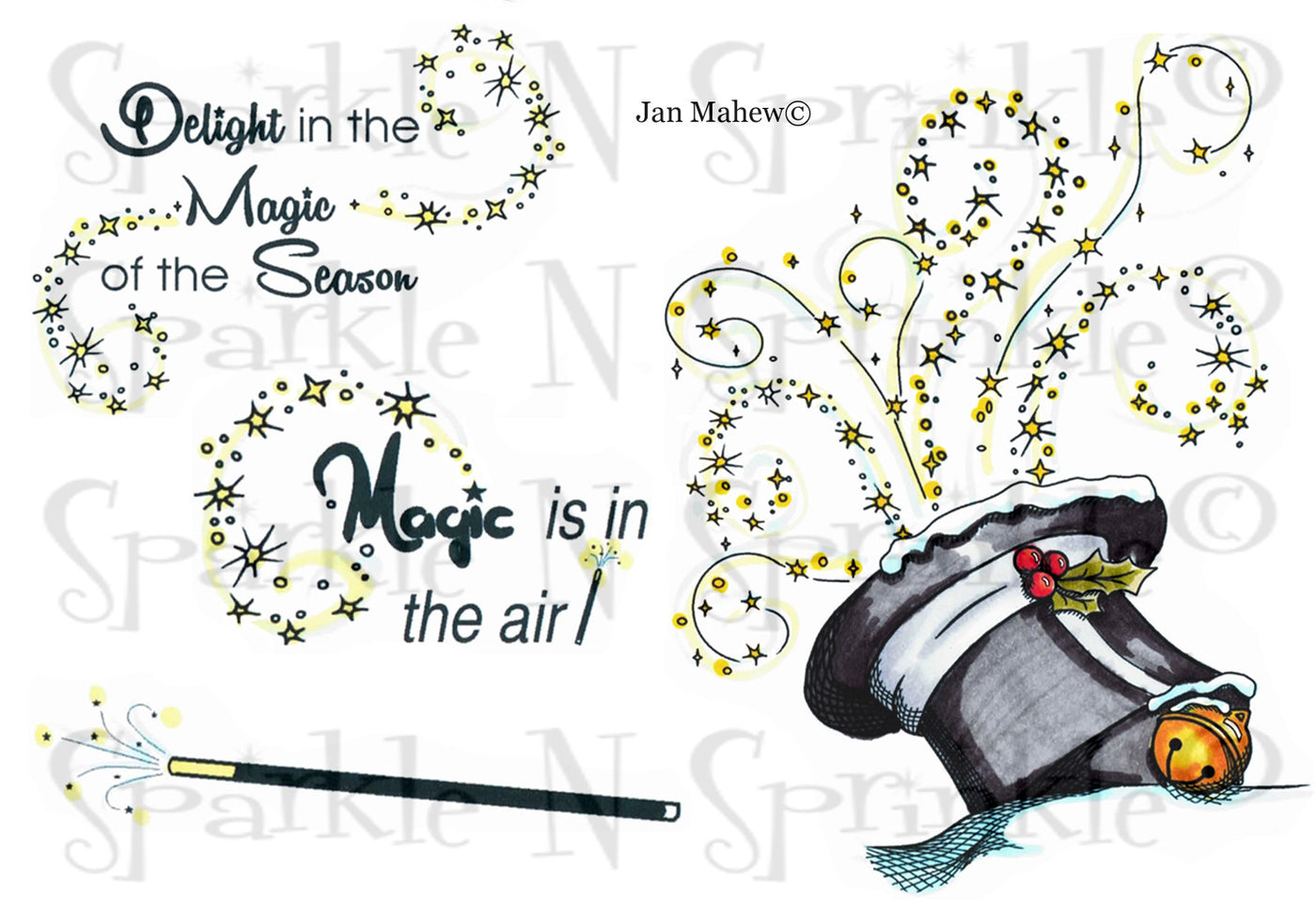 Magic of the Season Digital Stamp Set [Digi653J]
