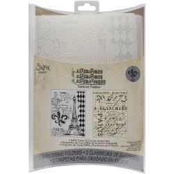 Eiffel Tower & French Script Embossing Folders by Tim Holtz [658577]