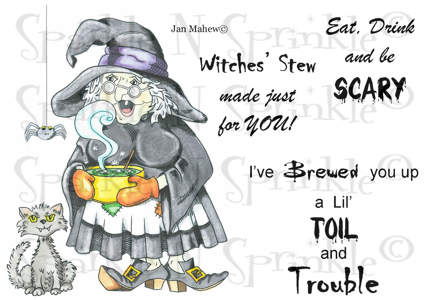 Witches Brew Rubber Stamp Set [00-660P5]