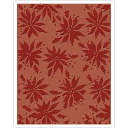 Pointsettias Texture Fade Embossing Folder [662433]