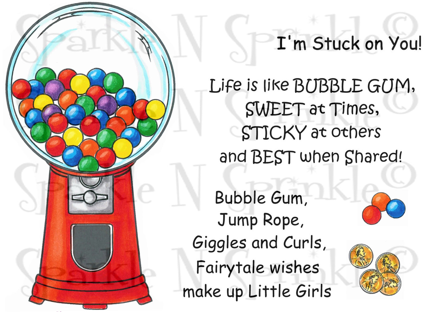 Bubble Gum Machine Digital Stamp Set [Digi664J]