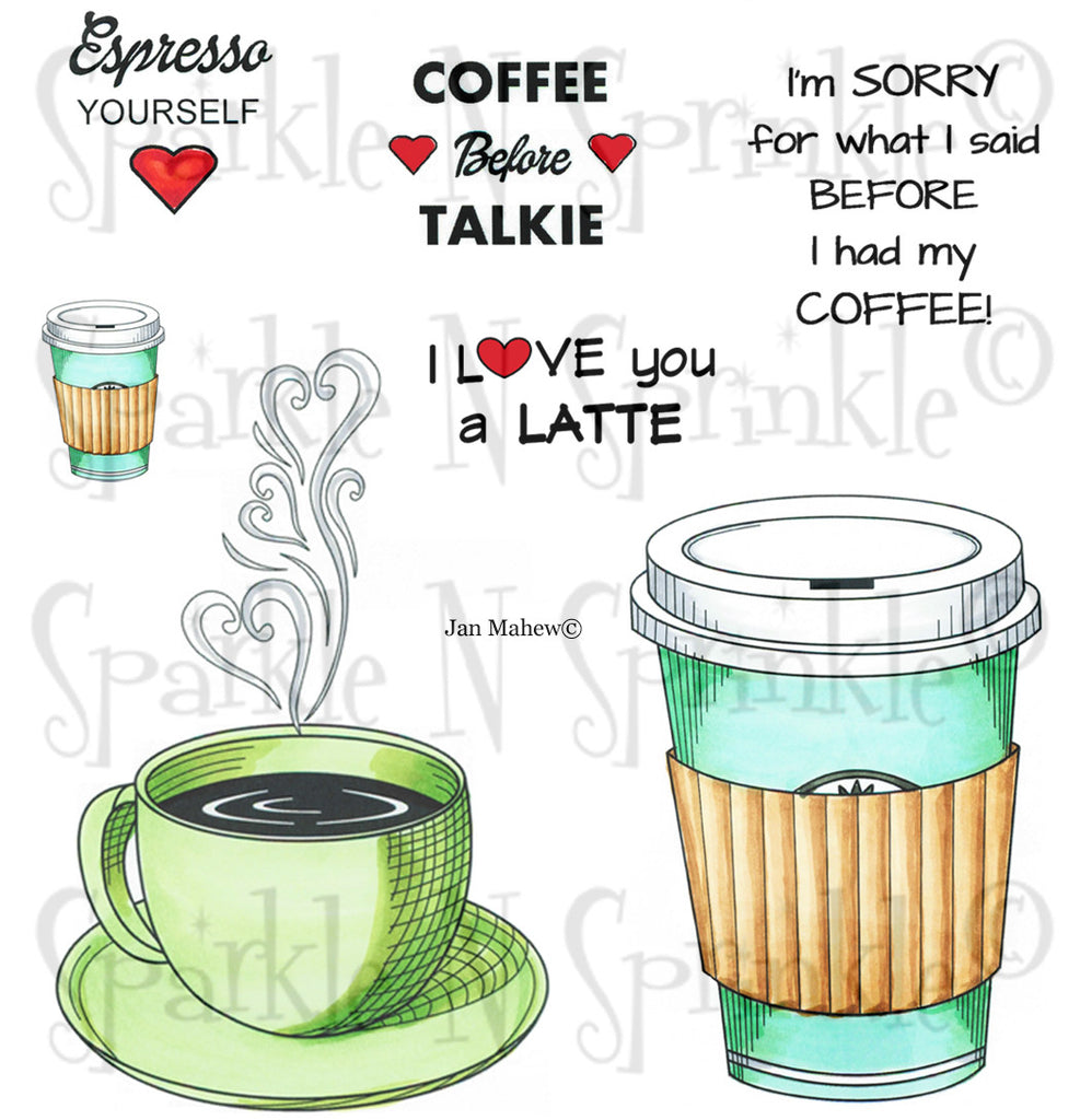Espresso Yourself Rubber Stamp Set [00-699P6]