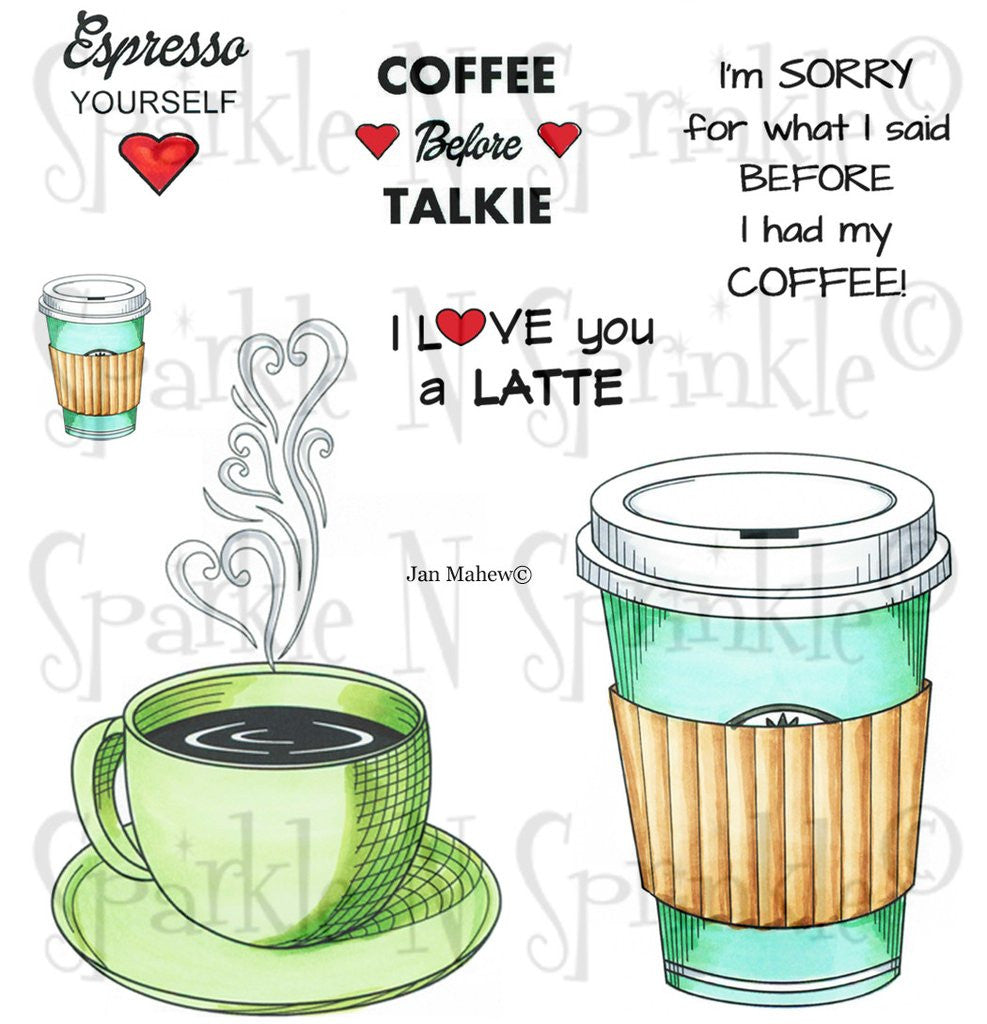 Espresso Yourself Digital Stamp Set [Digi699J]