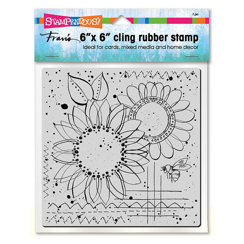 Sunny Sketch Rubber Stamp [6CR004]