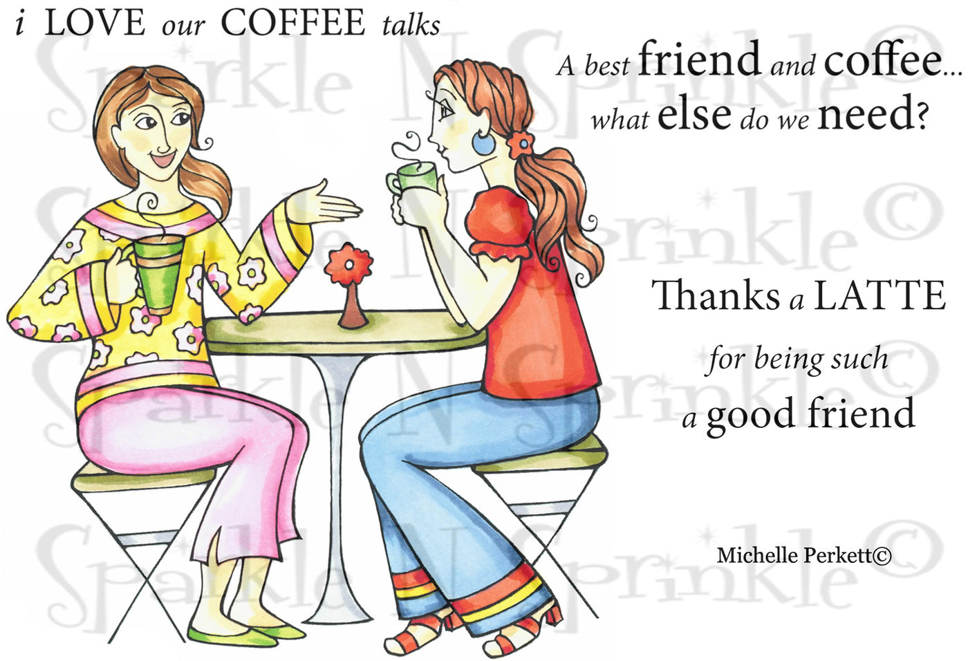 Coffee Talks Rubber Stamp Set [00-700P5]