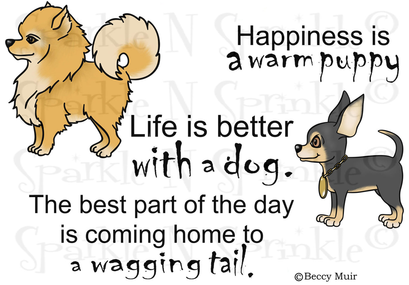 Life Is Better Digital Stamp Set [Digi712B]