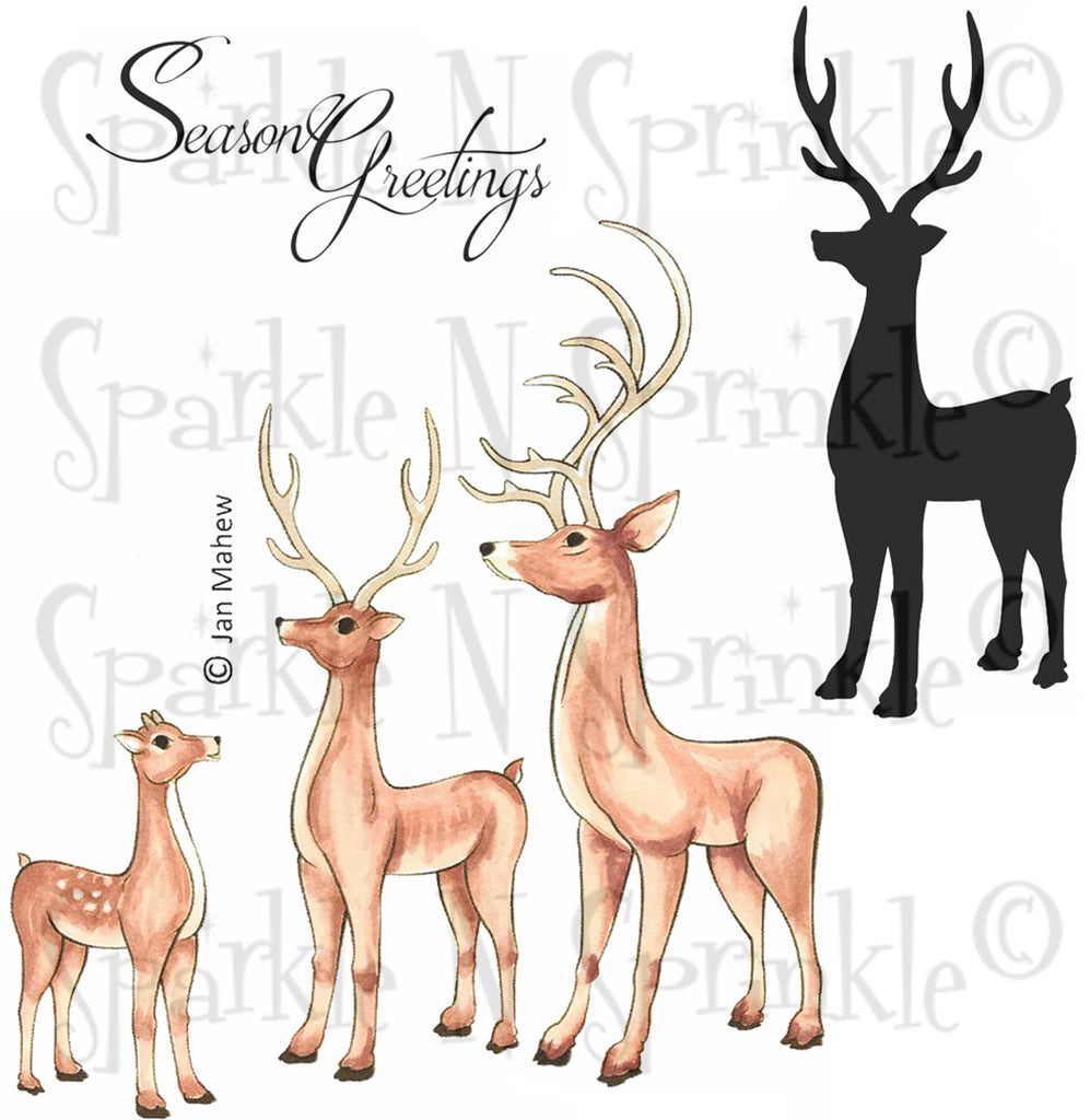 Reindeer Rubber Stamp Set [00-722P7]