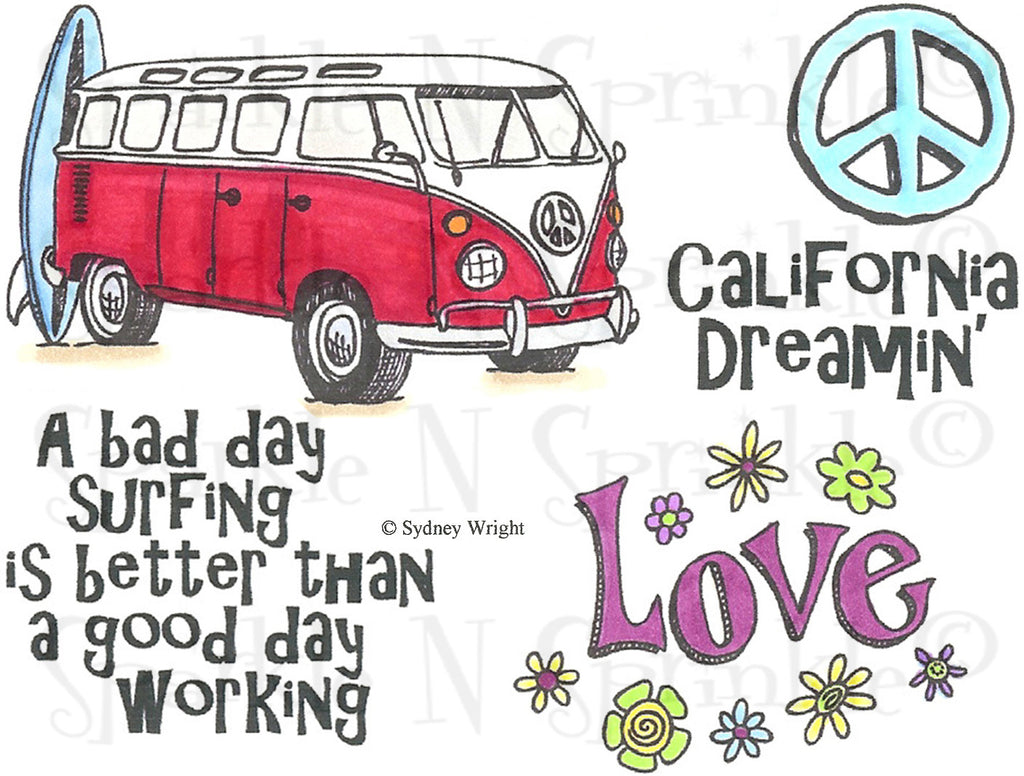 VW Bus Rubber Stamp Set [00-728P5]