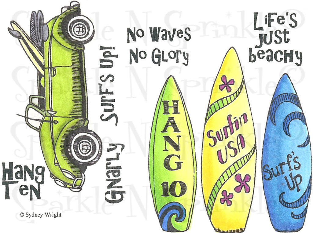 Surf's Up Rubber Stamp Set, 00-729P5