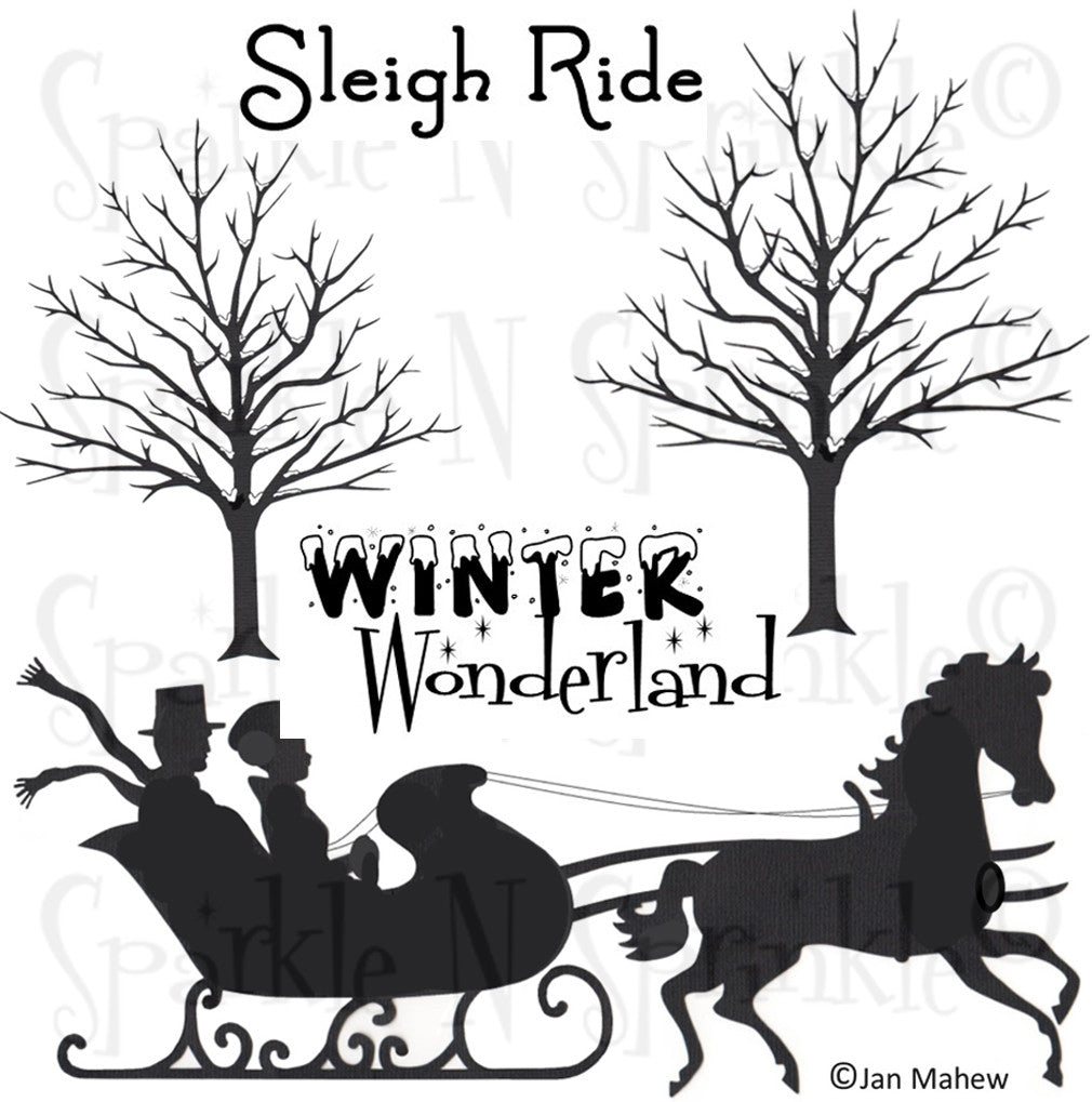 Sleigh Ride Rubber Stamp Set [00-744P7]