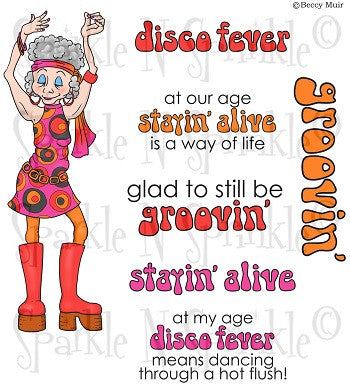 Disco Fever Rubber Stamp set 772 [00-772P6]