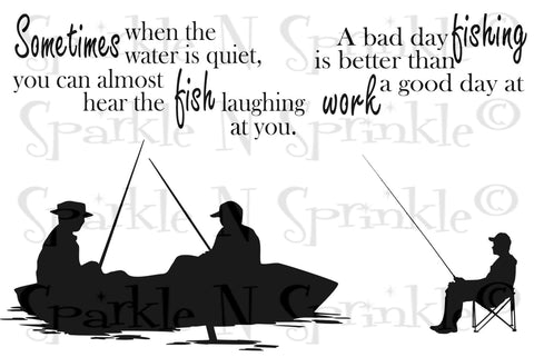 Gone Fishin Rubber Stamp Set [00-778P5]
