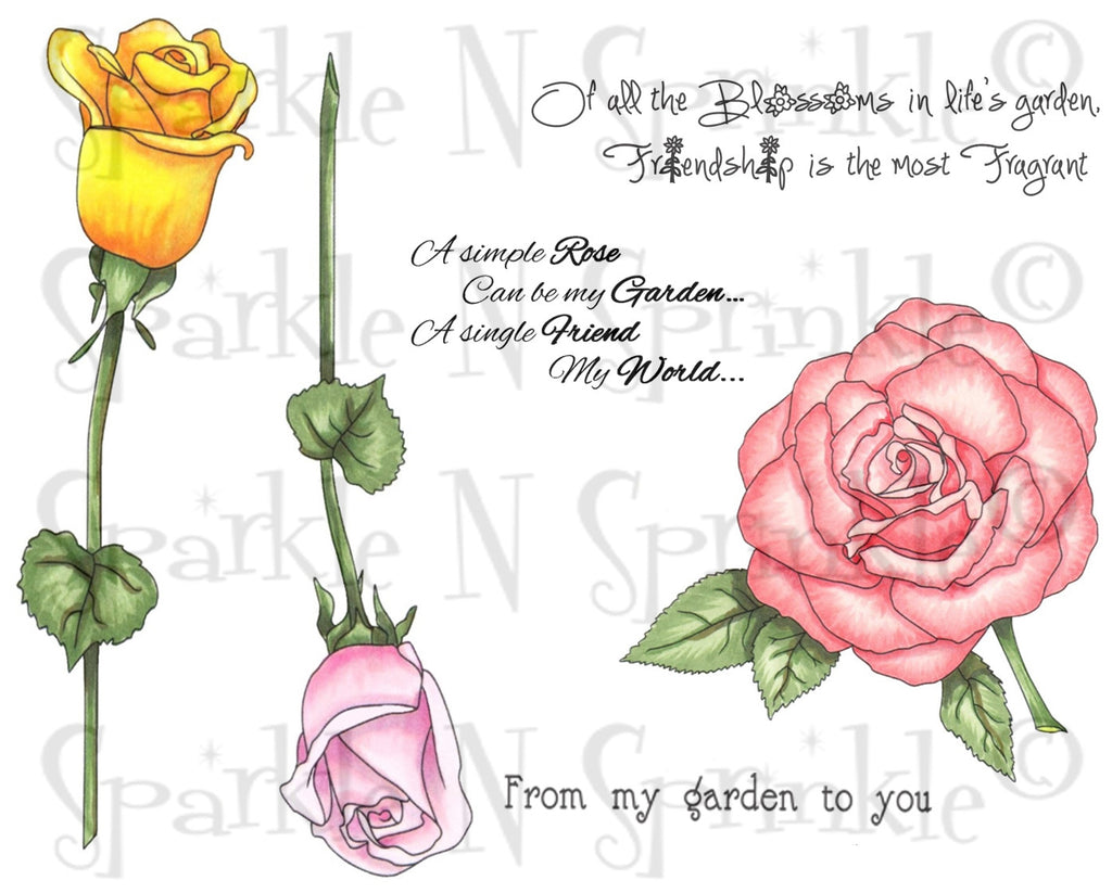 Roses Rubber Stamp Set [00-784P5]
