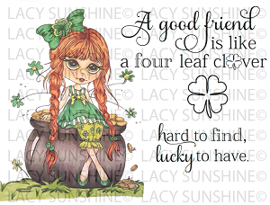 Luck of the Irish Enchantress-St. Patrick's Day Digital Stamp Set [Digi836LS]