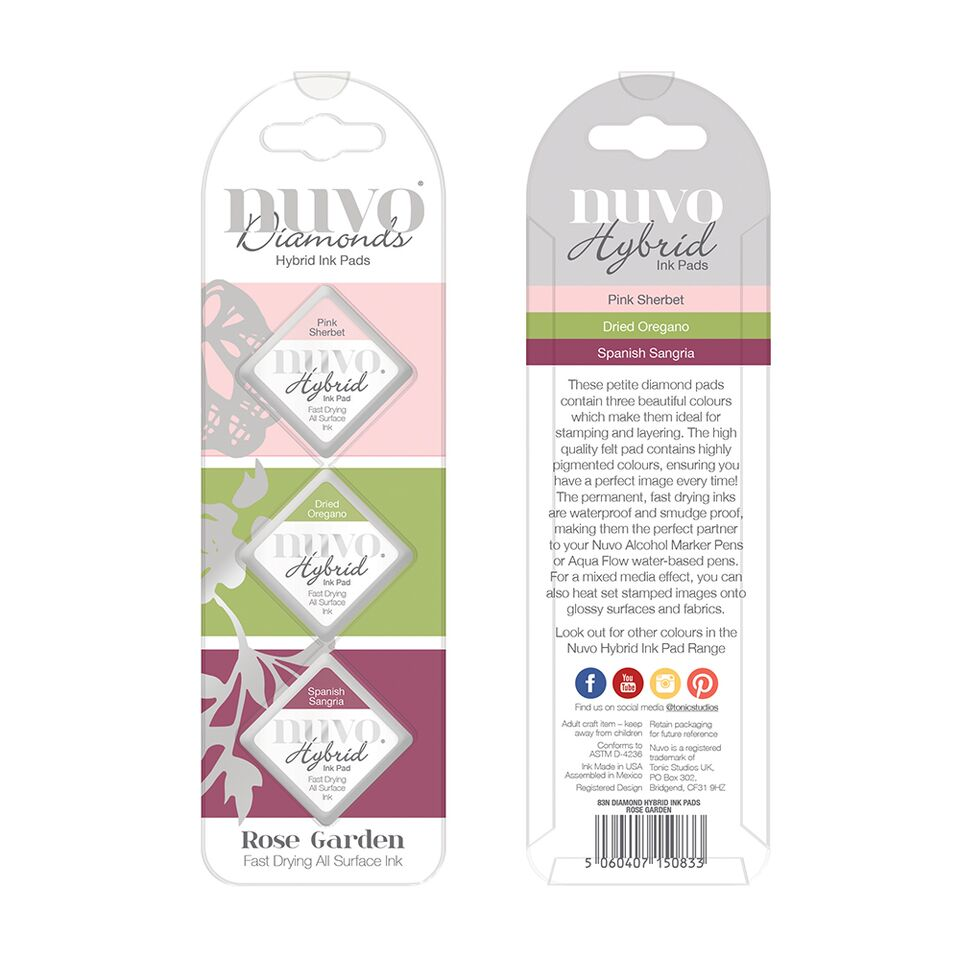 Diamond Hybrid Ink Pads Rose Garden [83N]