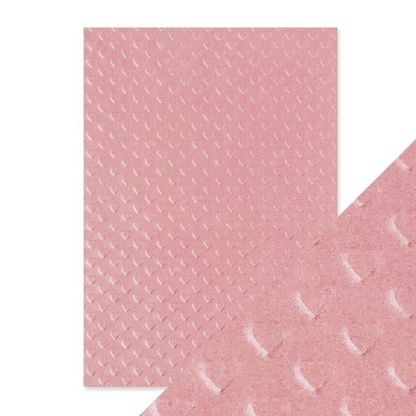 Craft Perfect Embossed Paper Blush Heartbeat [9800e]