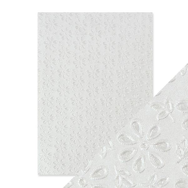 Craft Perfect Embossed Paper English Lace [9801e]