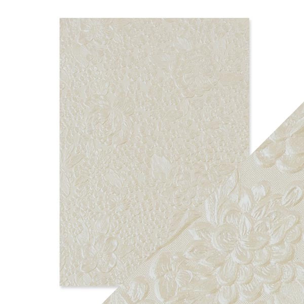 Craft Perfect Embossed Paper - Ivory Bouquet [9807e]