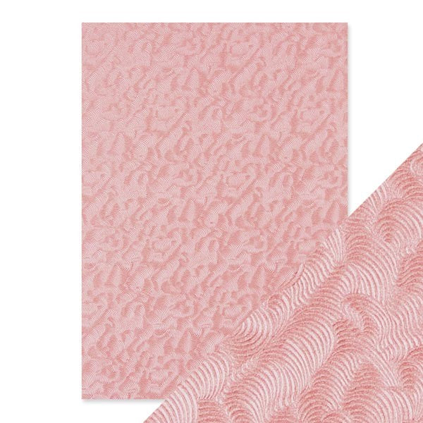 Craft Perfect Embossed Paper Pink Champagne [9811e]