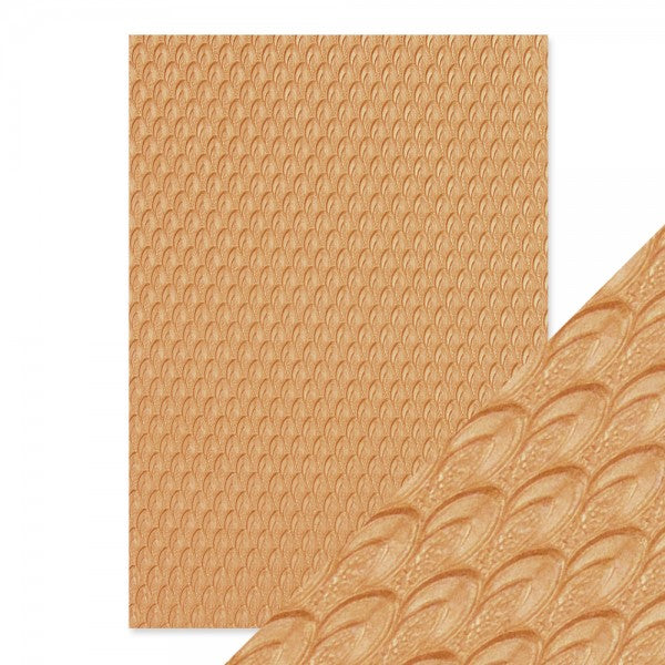 Craft Perfect Embossed Paper Golden Scales [9816e]