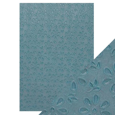 Craft Perfect A4 Hand Crafted Cotton Papers Floral Lace 9875e