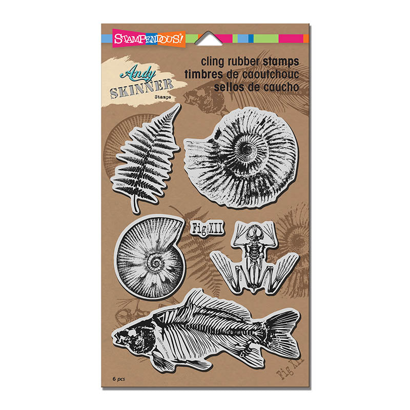 Fossils Cling Stamp Set [ASCRS11]
