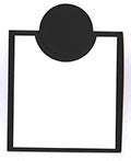 Bib Card Overlay Kit - 10 ct Black/White [BIBOK5907]