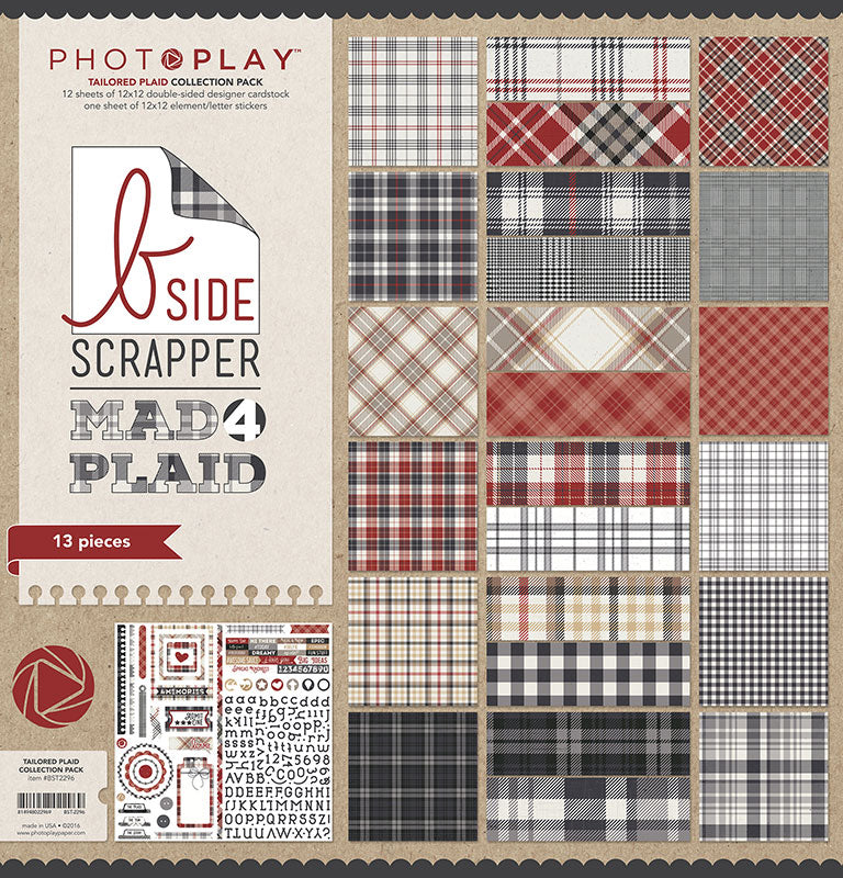 Mad 4 Tailored Plaid Collection by Photo Play [BST2296]
