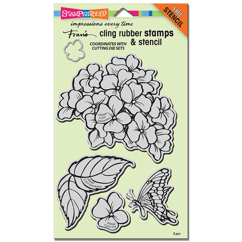 Hydrangea Garden Stampendous Cling Stamp Set [CRS5067]