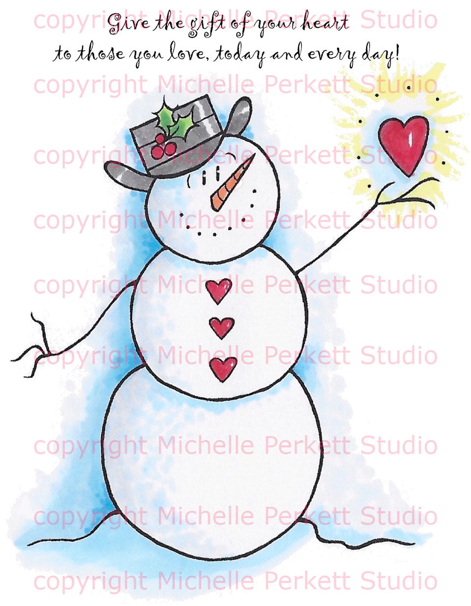 Snowman with a Heart Digital Stamp Set [DIGI3140M]