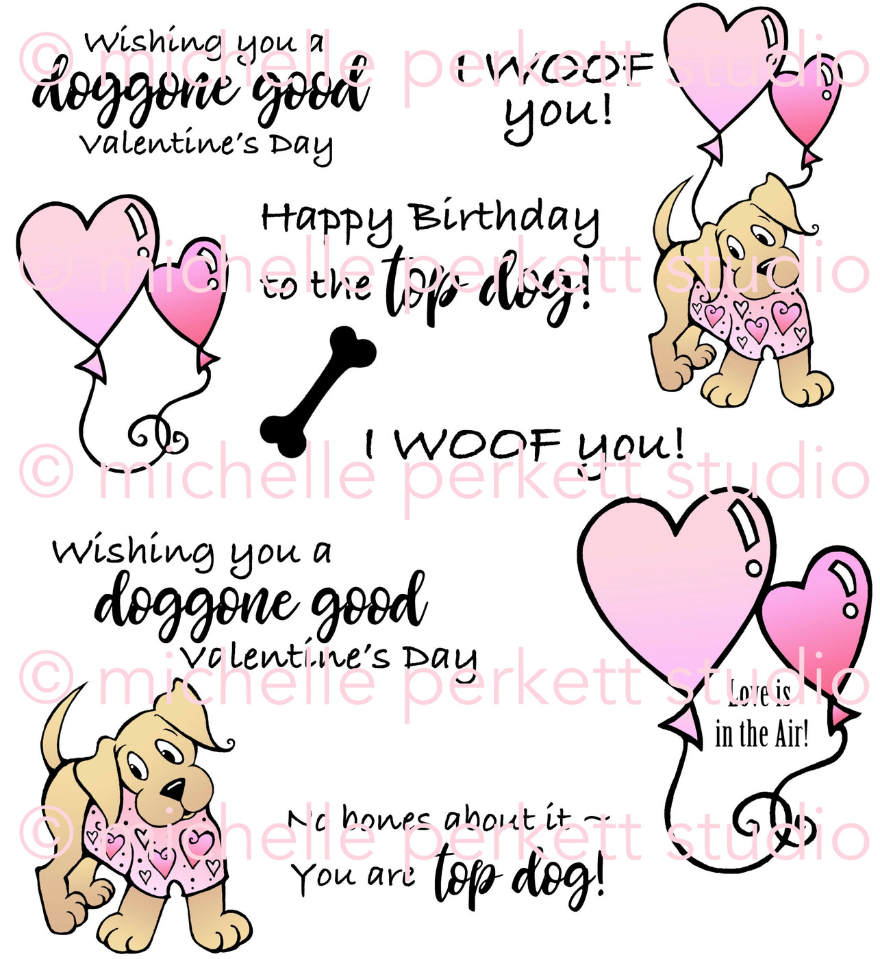 New   Puppy Love Digital Stamp Set [DIGI3146M]