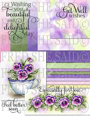 Pansies-Purple Digital Bundle (Paper&Stamps)826-833 [PP Bundle-FS]